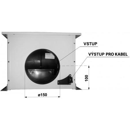 Sada Faber EVJ 4 - úprava na externí ventilační jednotku, šedá