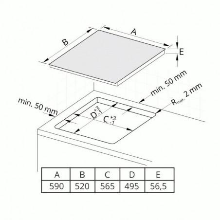 Indukční deska Cata IB 6304 BK, 60 cm, 4 zóny