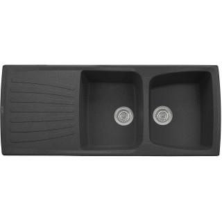 Kuchyňský dřez Sinks Matis 1184 DUO Metalblack 74