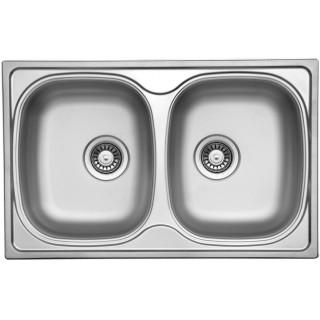 Kuchyňský dřez Sinks Classic 790 DUO V 0,6 mm, matný