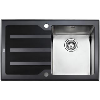 Kuchyňský dřez Teka Lux 1B 1D Nerez/sklo pravý