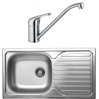 Kuchyňský set Sinks Kromevye 43 (dřez Classic 780 V + baterie Vento 4)
