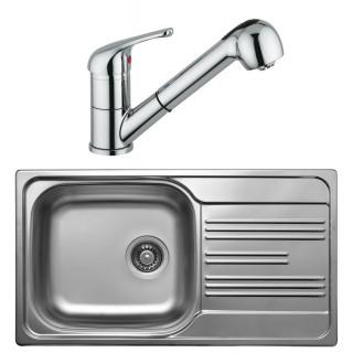 Kuchyňský set Sinks Kromevye 48 (dřez Colea 780 V + baterie Vento 4 S)