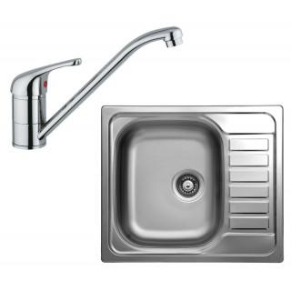 Kuchyňský set Sinks Kromevye 55 (dřez Triton 580 V + baterie Vento 4)