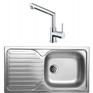 Kuchyňský set Sinks Kromevye 42 (dřez Classic 780 M + baterie Mix 350 P)