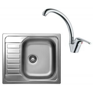 Kuchyňský set Sinks Kromevye 57 (dřez Triton 580 V + baterie Vento 55)