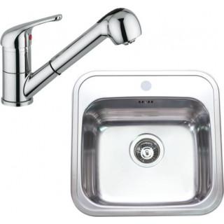Kuchyňský set Sinks Rodi 10 (dřez Manaus 460 + baterie Vento 4 S)