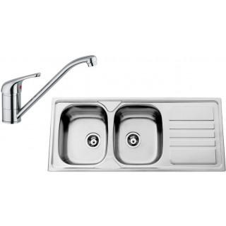 Kuchyňský set Sinks Rodi 65 (dřez Okio 1200 DUO + baterie Vento 4)