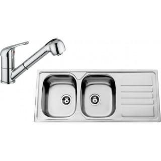 Kuchyňský set Sinks Rodi 66 (dřez Okio 1200 DUO + baterie Vento 4 S)