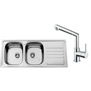 Kuchyňský set Sinks Rodi 68 (dřez Okio 1200 DUO + baterie Mix 350 P)