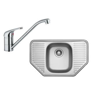 Kuchyňský set Sinks Ukinox N83 (dřez Comfort 777 + baterie Vento 4)