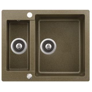 Kuchyňský dřez Sinks Aquasanita CUBA 150 Bronz